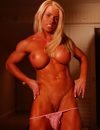 Muscle woman, hot..