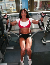 Muscle babe gets..